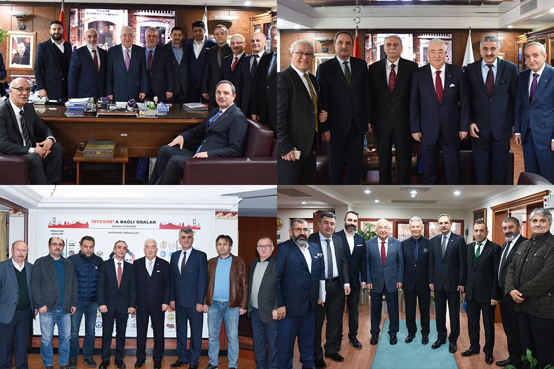 ESNAF ODALARINDAN BİRLİK BAŞKANI FAİK YILMAZ'A ZİYARET